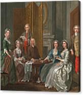 The Gascoigne Family, C.1740 Canvas Print