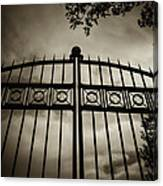 The Gate In Sepia Canvas Print
