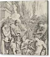 The Genius Of Salvator Rosa Canvas Print