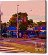 The Georgetown Sports Pub Soccer Bar Bank St The Glebe Paintings Of Ottawa Carole Spandau Artist Canvas Print