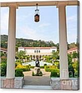 The Getty Villa Main Courtyard View From Covered Walkway. Canvas Print
