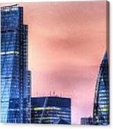 The Gherkin And The Cheesgrater London Canvas Print