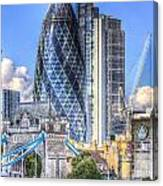 The Gherkin And Tower Bridge Canvas Print
