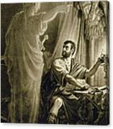 The Ghost Of Julius Caesar, In The Play Canvas Print