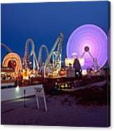 The Giant Wheel At Night  Canvas Print