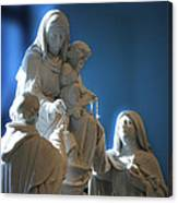 The Gift Of The Rosaries Statue Canvas Print