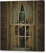 The Girl In The Window  Canvas Print