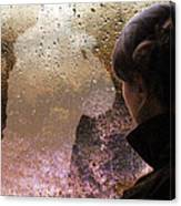 The Girl On The Jacobite Train Canvas Print