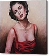 The Glamour Days Elizabeth Taylor Canvas Print