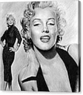 The Glamour Days Marilyn Monroe Canvas Print