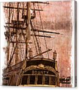 The Gleaming Hull Of The Hms Bounty Canvas Print