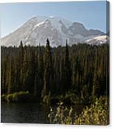 The Glow Of Mount Rainier Canvas Print