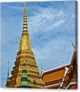 The Golden Chedis At Grand Palace Of Thailand In Bangkok Canvas Print