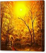 The Golden Dream-original Sold-buy Giclee Print Nr 31 Of Limited Edition Of 40 Prints  Canvas Print
