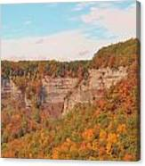 The Gorge In Autumn Canvas Print