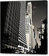 The Grace Building And The Chrysler Building - New York City Canvas Print
