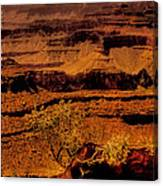 The Grand Canyon Vintage Americana Vi Canvas Print