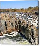 The Great Falls Of The Potomac Panorama Canvas Print