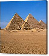 The Great Pyramids Giza Egypt Canvas Print