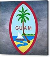 The Great Seal Of Guam Territory Of Usa  Canvas Print