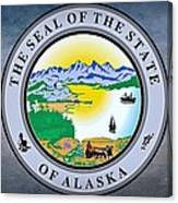 The Great Seal Of The State Of Alaska  Canvas Print