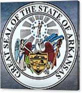 The Great Seal Of The State Of Arkansas Canvas Print