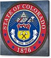 The Great Seal Of The State Of Colorado Canvas Print