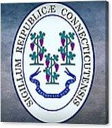 The Great Seal Of The State Of Connecticut Canvas Print