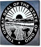 The Great Seal Of The State Of Ohio  Canvas Print