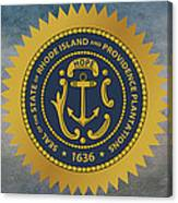 The Great Seal Of The State Of Rhode Island Canvas Print
