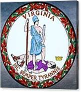 The Great Seal Of The State Of Virginia  Canvas Print