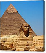 The Great Sphinx Of Giza And Pyramid Of Khafre Canvas Print