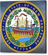 The Great Seal Of The State Of New Hampshire Canvas Print
