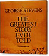 The Greatest Story Every Told, Us Canvas Print