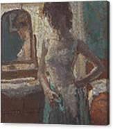 The Green Dress, 1908-09 Canvas Print