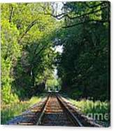 The Green Line Railroad Track Art Canvas Print