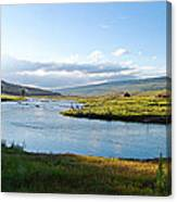 The Green River Canvas Print