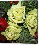 The Green Roses Of Winter Canvas Print