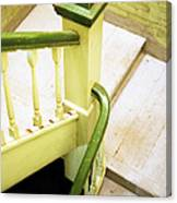 The Green Stairwell Canvas Print