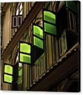 The Green Windows Canvas Print