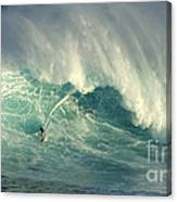 Surfing The Green Zone Canvas Print