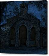 The Grotto By Moonlight Canvas Print