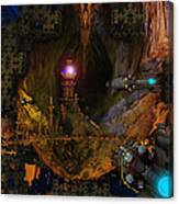 The Grottos Echo Canvas Print