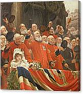 The Guards Cheer, 1898 Canvas Print