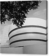 The Guggenheim Museum In Black And White Canvas Print