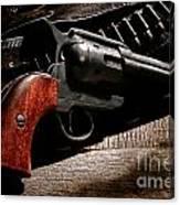 The Gun That Won The West Canvas Print