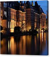 The Hague By Night Canvas Print