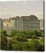 The Hamburg Kunsthalle And The Wallanlagen At The Glockengiesserwal Canvas Print