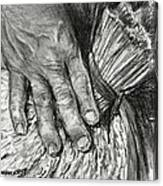 The Hand That Feeds Us Canvas Print