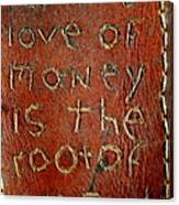 Handmade Wallet For The Love Of Money From New Orleans Louisiana  Canvas Print